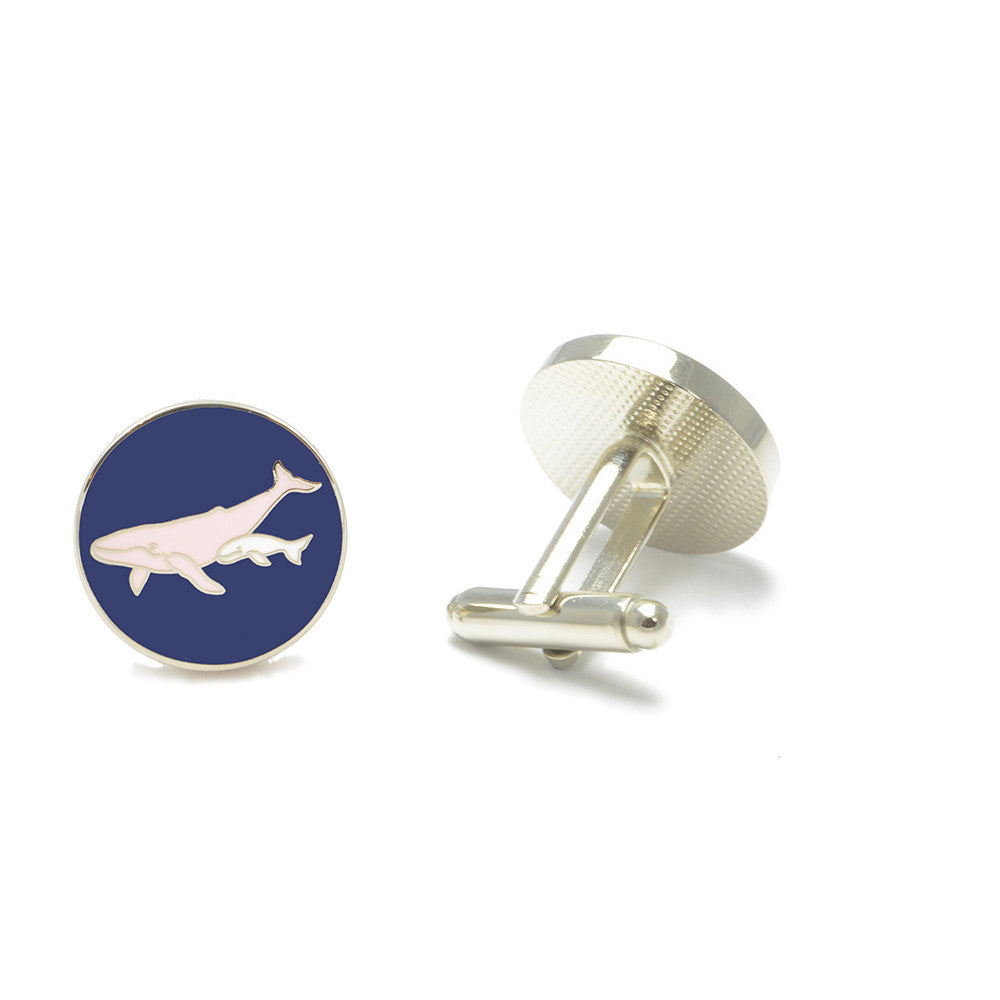 Humpback Whale Cufflinks - SummerTies