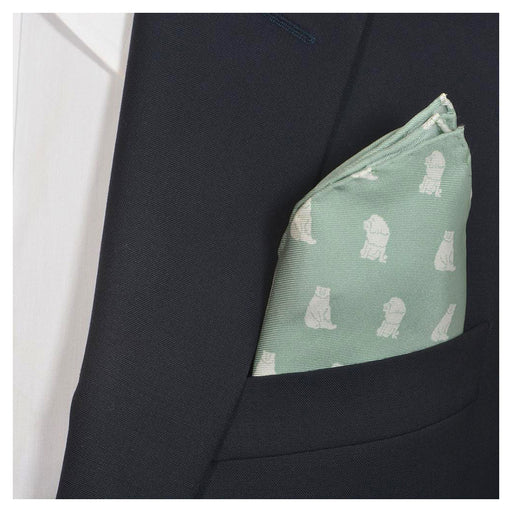 Bear-Lion Pocket Square - Green - SummerTies
