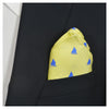 Catboat Pocket Square - Yellow, Printed Silk - SummerTies  - 1