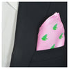 Frog Pocket Square - Pink - SummerTies