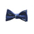 Sperm Whale Bow Tie - Grey on Navy, Woven Silk