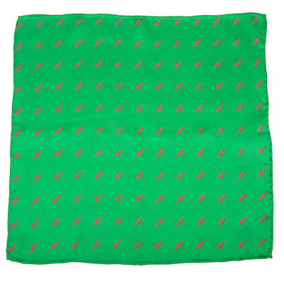 Trout Pocket Square - Bright Green - SummerTies  - 2