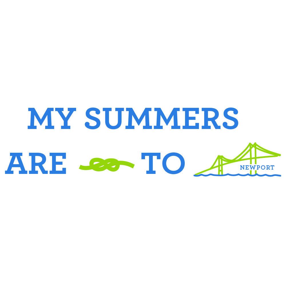 My Summers are Tied To Newport - Bridge - T-Shirt - Long Sleeve - SummerTies