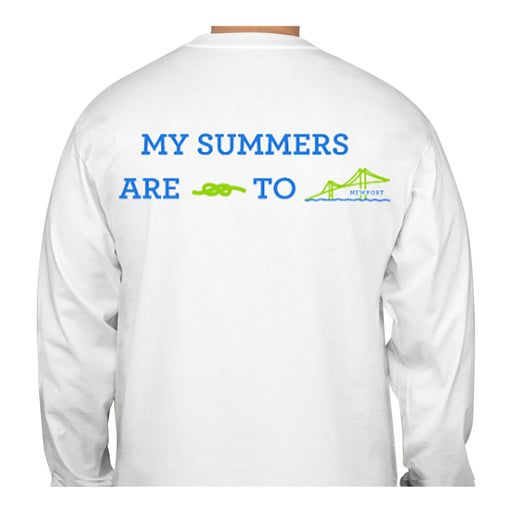 My Summers are Tied To Newport - Bridge - T-Shirt - Long Sleeve