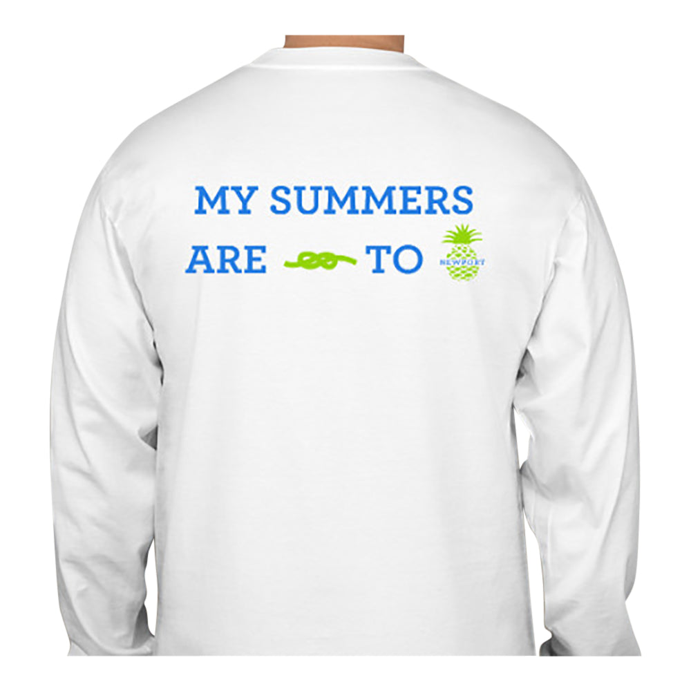 My Summers are Tied To Newport - Pineapple - T-Shirt - Long Sleeve - SummerTies