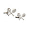 Tennis Racquet & Ball Cufflinks - 3D, Silver - SummerTies
