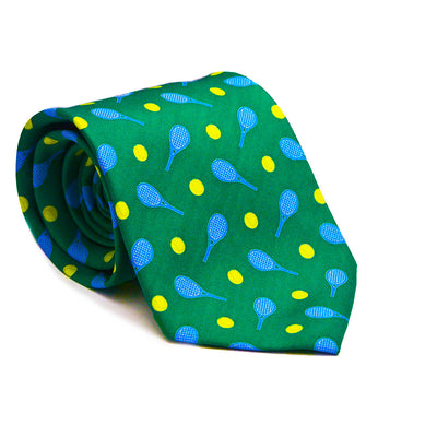Tennis Racquet & Ball Necktie - SummerTies  - 1