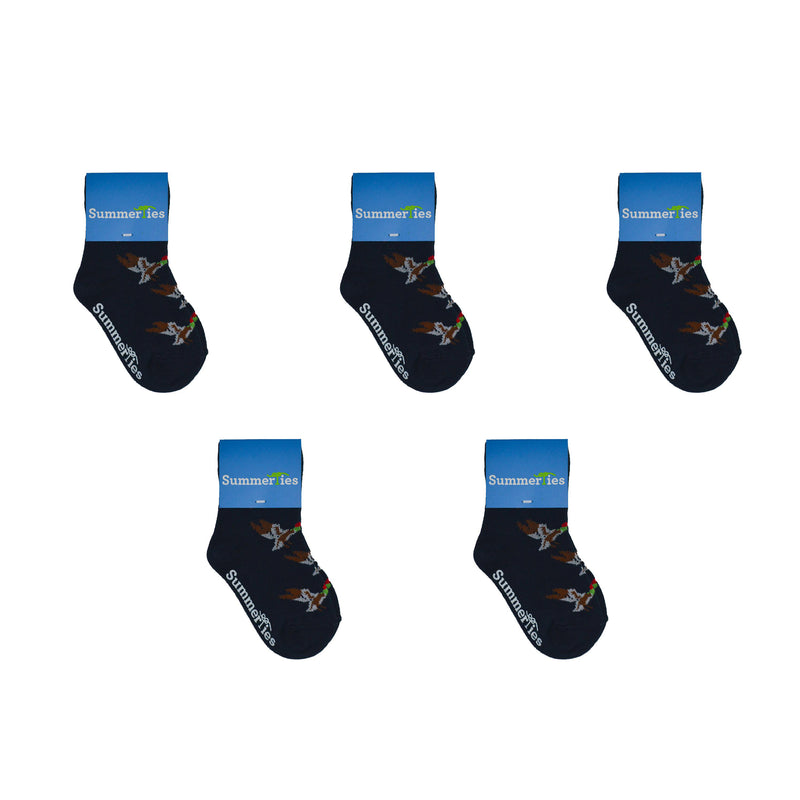 Duck Socks - Toddler Crew Sock - Navy - 5 Pairs - SummerTies