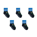 Mermaid Socks - Toddler Crew Sock - Navy - 5 Pairs - SummerTies
