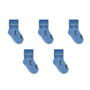 Penguin Socks - Toddler Crew Sock - Blue - 5 Pairs - SummerTies