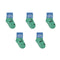 Skunk Socks - Toddler Crew Sock - Black on Green - 5 Pairs - SummerTies