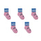 Skunk Socks - Toddler Crew Sock - Black on Pink - 5 Pairs - SummerTies