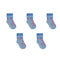 Turtle Socks - Toddler Crew Sock - Pink on Light Blue - 5 Pairs - SummerTies