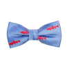 Trout Bow Tie - Light Blue, Woven Silk, Pre-Tied for Kids