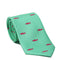 Trout Necktie - Light Green, Printed Silk - SummerTies
