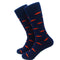 Trout Socks - Coral on Navy - Men's Mid Calf - SummerTies