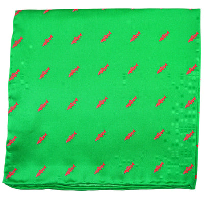 Trout Pocket Square - Bright Green - SummerTies