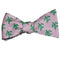 Turtle Bow Tie - Green on Pink, Woven Silk - SummerTies