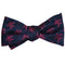 Turtle Bow Tie - Pink on Navy, Woven Silk - SummerTies