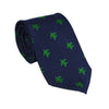 Turtle Necktie - Green on Navy - SummerTies