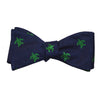 Turtle Bow Tie - Green on Navy - SummerTies