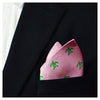 Turtle Pocket Square - Green on Pink - SummerTies  - 1