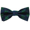 Turtle Bow Tie - Green on Navy, Woven Silk, Pre-Tied for Kids - SummerTies