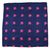 Turtle Pocket Square - Navy - SummerTies  - 2