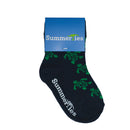 Turtle Socks - Toddler Crew Sock - Green on Navy - 5 Pairs - SummerTies