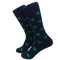 Turtle Socks - Men's Mid Calf - Green on Navy - SummerTies
