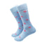 Turtle Socks - Men's Mid Calf - Pink on Blue - SummerTies