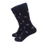 Turtle Socks - Men's Mid Calf - Pink on Navy - SummerTies
