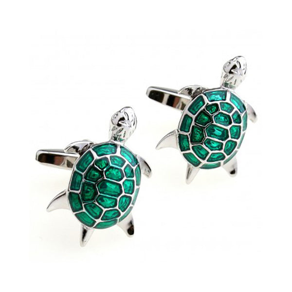 Turtle Cufflinks - 3D, Turquoise - SummerTies
