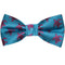 Turtle Bow Tie - Pink on Blue, Woven Silk, Pre-Tied for Kids - SummerTies