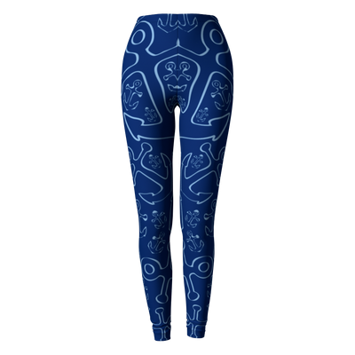 Anchor Dream Leggings - Navy - SummerTies