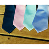 Solid Color Necktie - Light Blue, Woven Silk