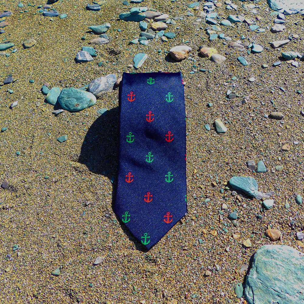 Anchor Necktie - Port & Starboard, Woven Silk - SummerTies