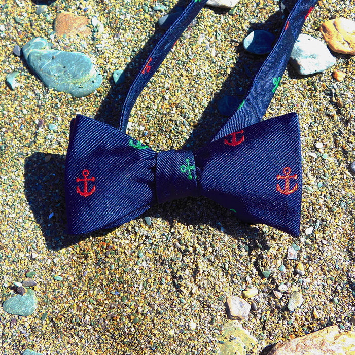 Anchor Bow Tie - Port & Starboard, Woven Silk - SummerTies