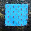 Seahorse Pocket Square - Blue - SummerTies