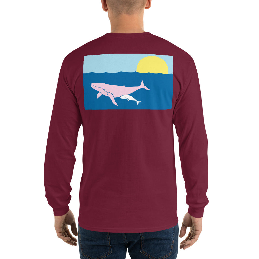Humpback Whale Long Sleeve T-Shirt - Multiple Colors