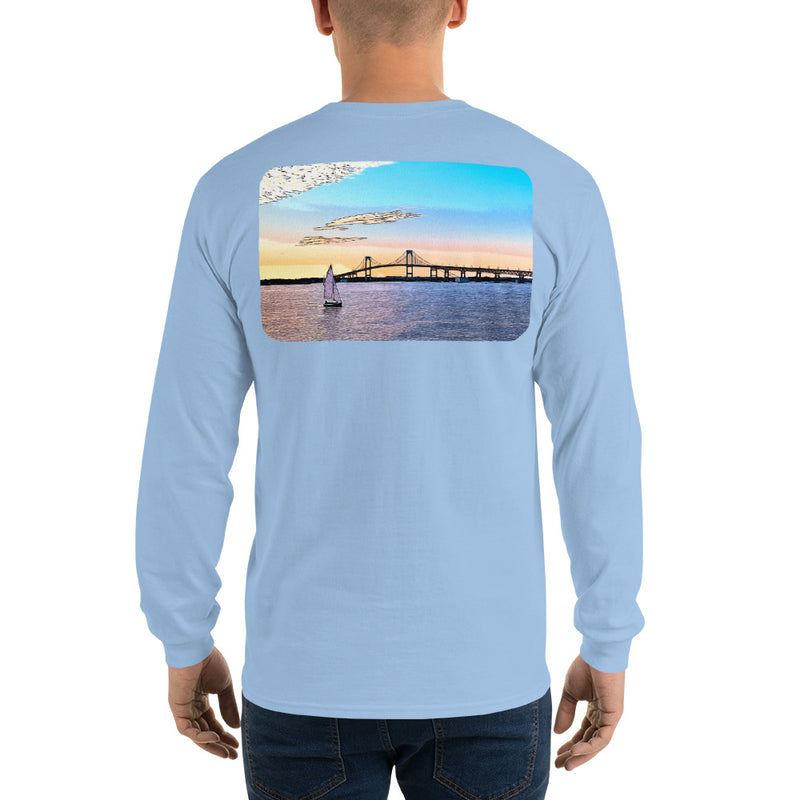 Newport Bridge Sunset Long Sleeve T-Shirt - Multiple Colors - SummerTies