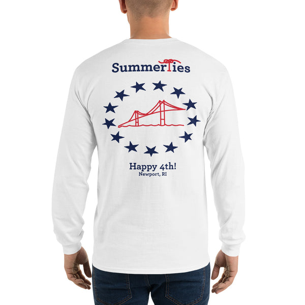 Newport 4th of July Long Sleeve T-Shirt - White - SummerTies