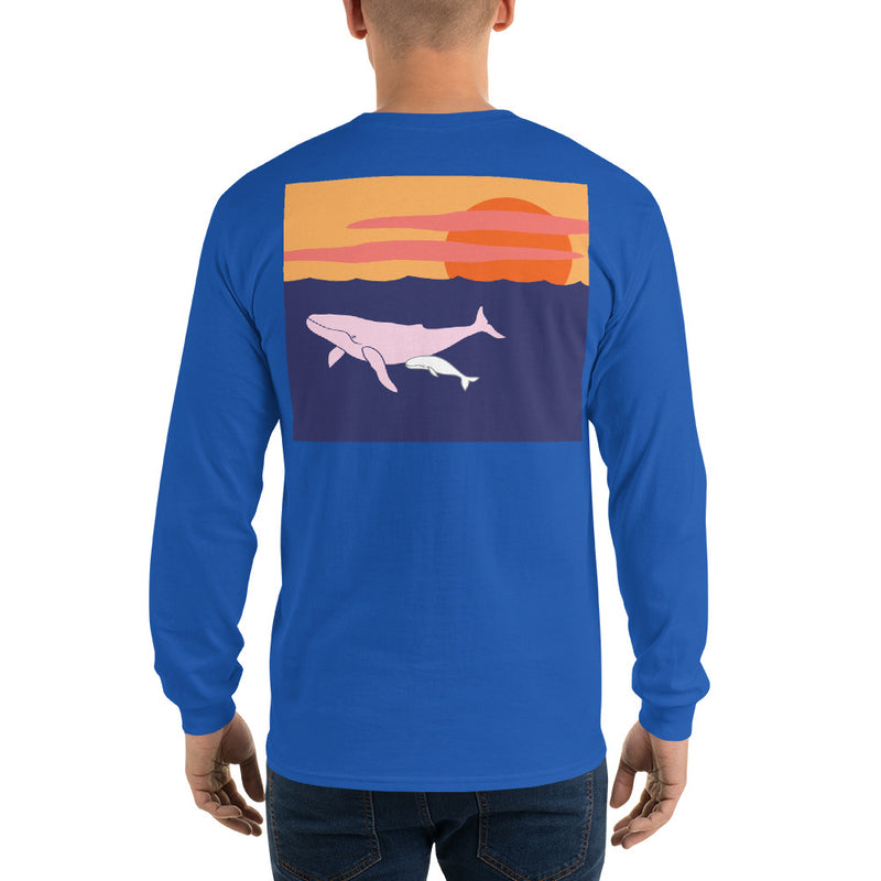 Humpback Whale II Long Sleeve T-Shirt - Multiple Colors - SummerTies