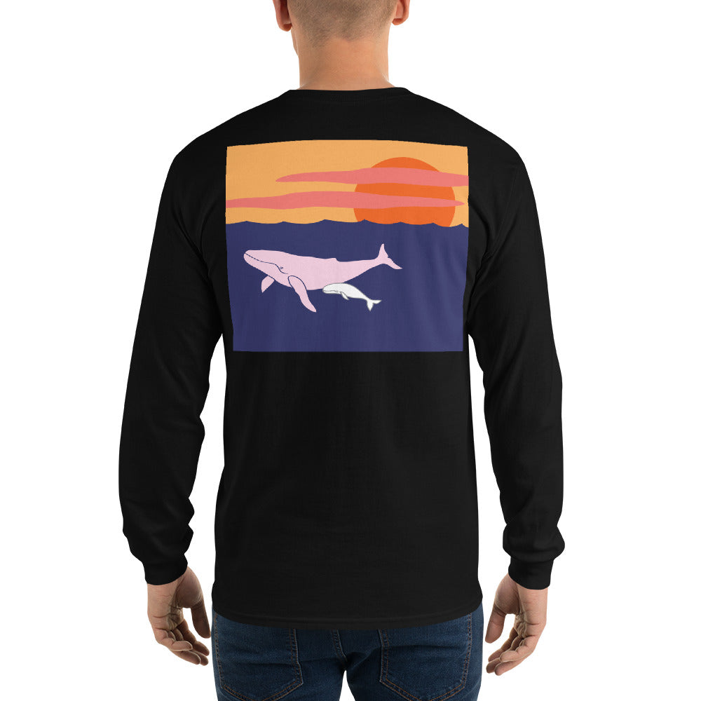 Humpback Whale II Long Sleeve T-Shirt - Multiple Colors