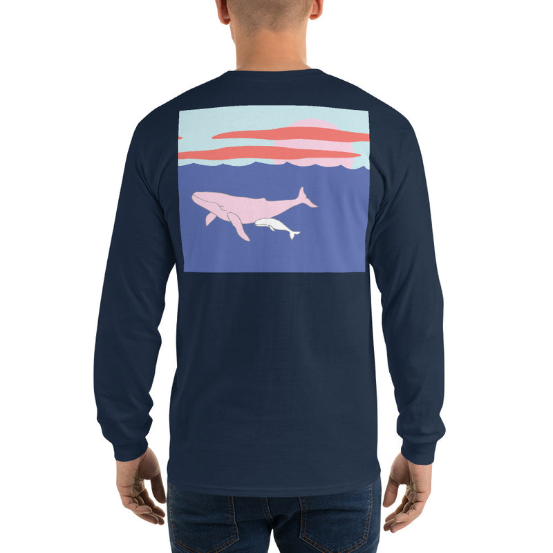 Humpback Whale III Long Sleeve T-Shirt - Multiple Colors - SummerTies
