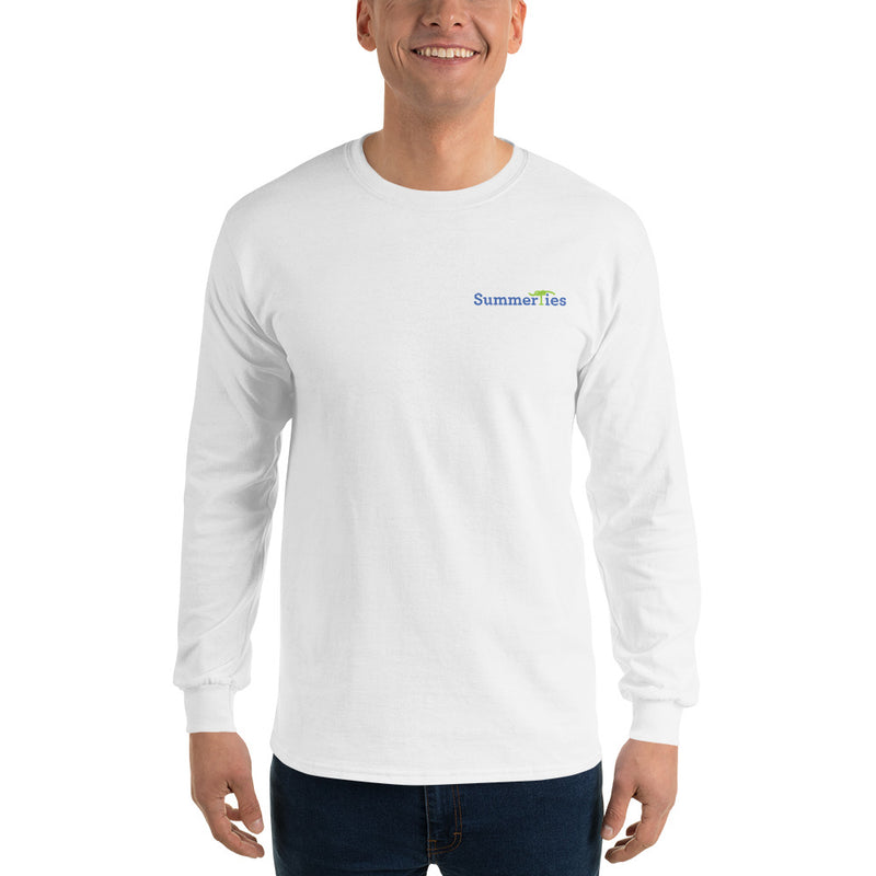 Edgartown Lighthouse with Sailboats Long Sleeve T-Shirt - Multiple Colors - SummerTies