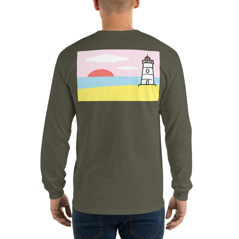 Lighthouse Long Sleeve T-Shirt - Multiple Colors - SummerTies