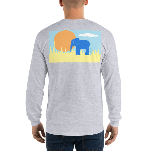 Elephant Long Sleeve T-Shirt - Multiple Colors - SummerTies