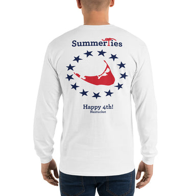 Nantucket 4th of July Long Sleeve T-Shirt - White