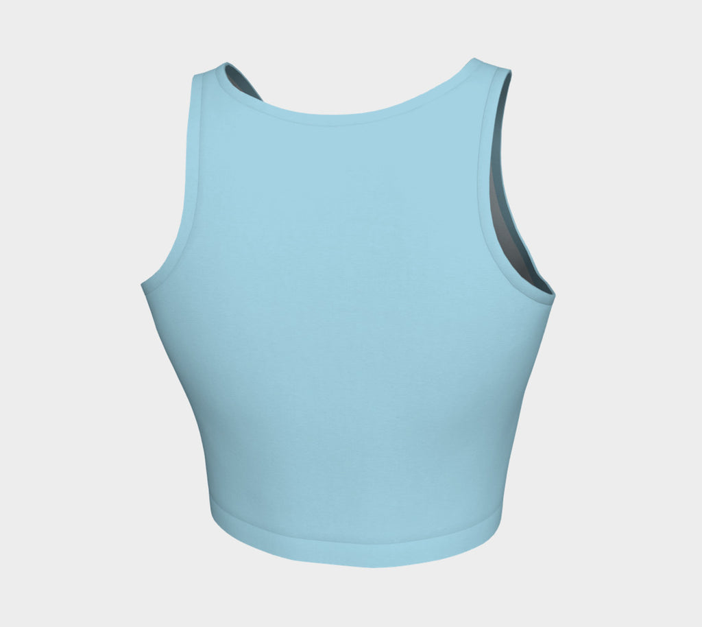 Solid Athletic Crop Top - Light Blue